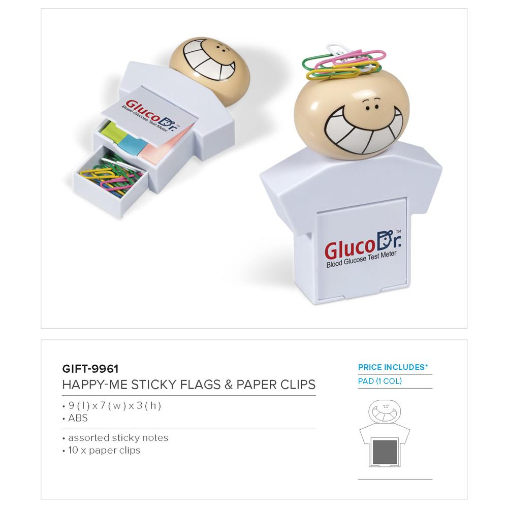 Happy-Me Sticky Flags & Paper Clips