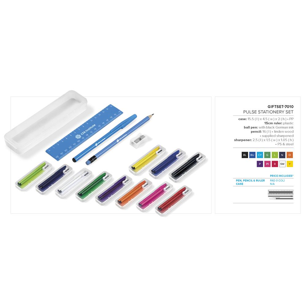 Pulse Stationery Set