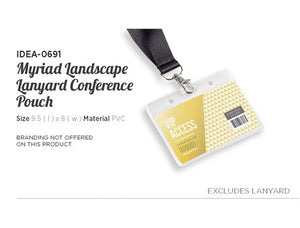 Myriad Lanyard Landscape Conference Pouch