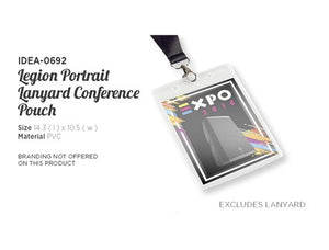 Legion Lanyard Portrait Conference Pouch