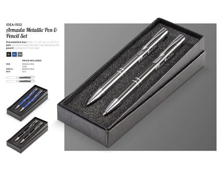 Armada Metallic Pen And Pencil Set