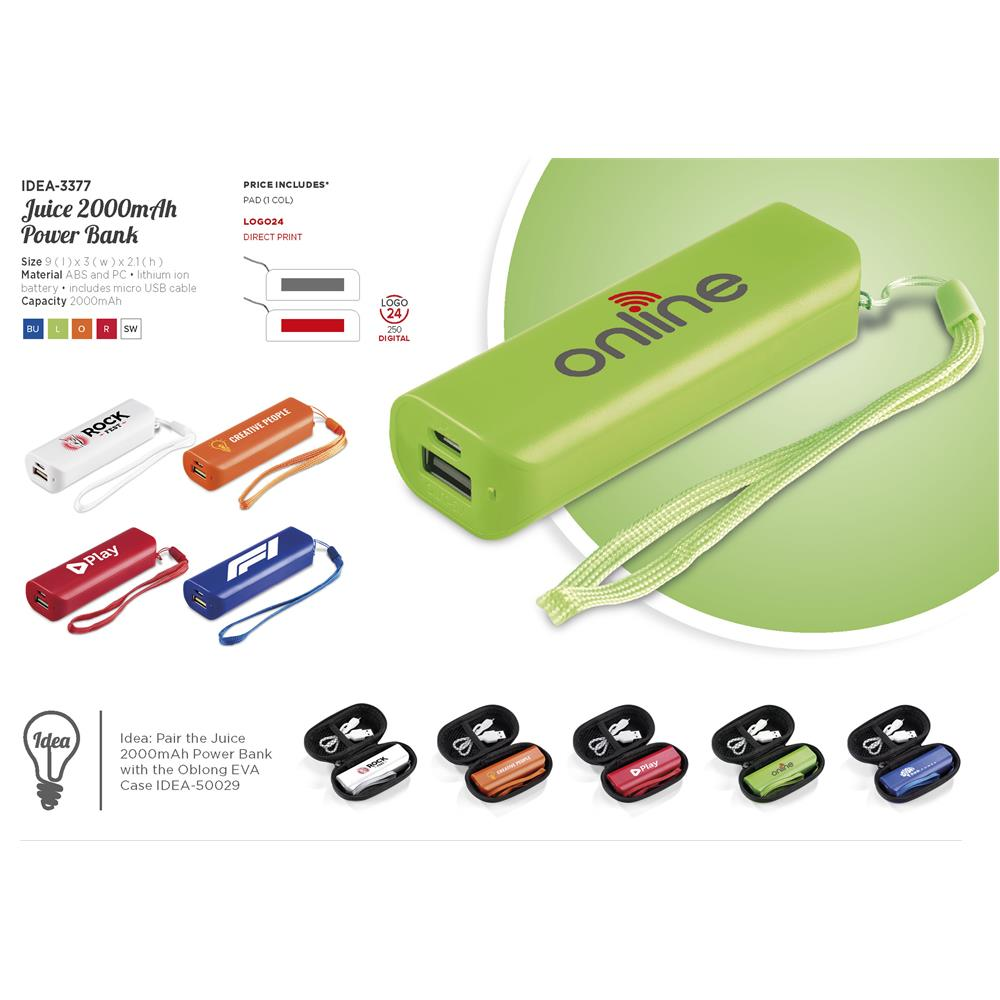Juice 2000mah Powerbank