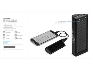 Sunsurge 2200mAh Solar Power Bank
