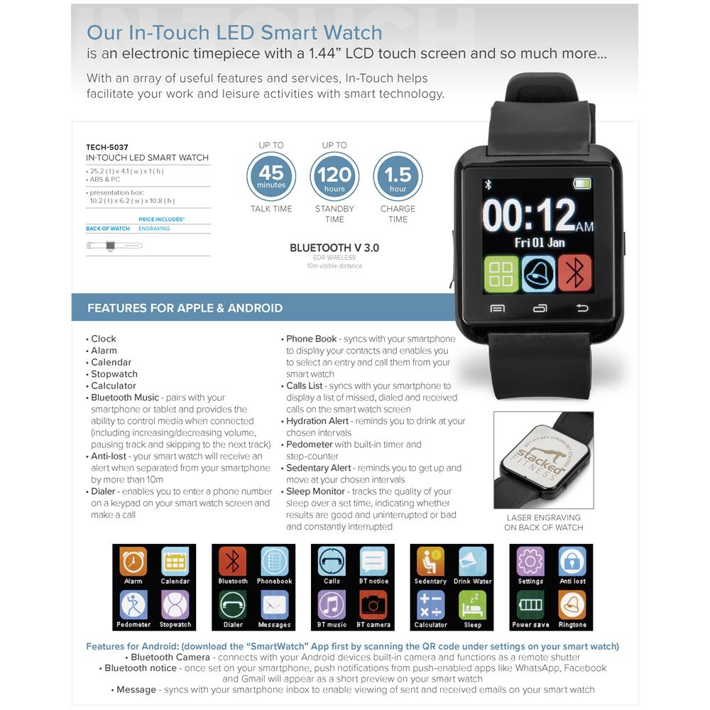 In-Touch LED Smart Watch