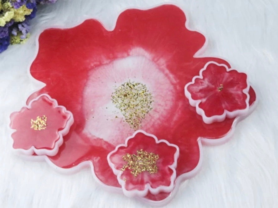 Flower Tray & Coaster Mold Set