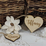 Wooden Heart Tags