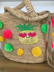 Large Raffia Crochet Beach Tote