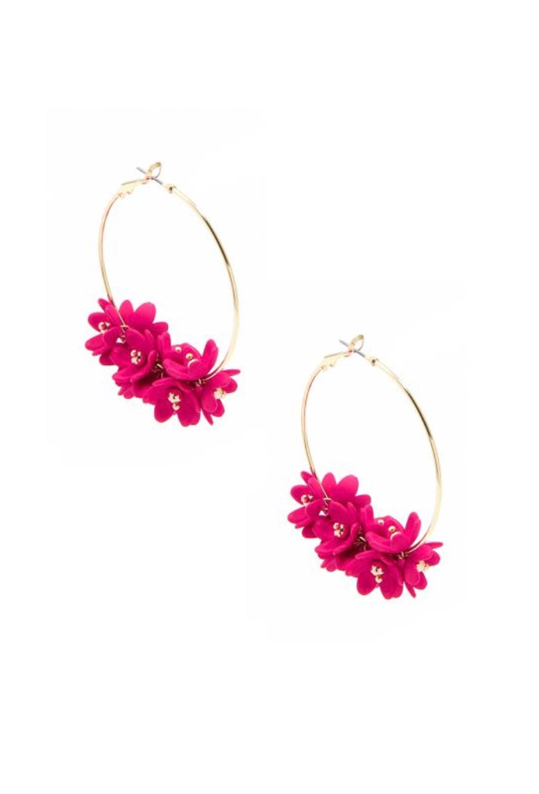 Petite Petals Hoop Earrings