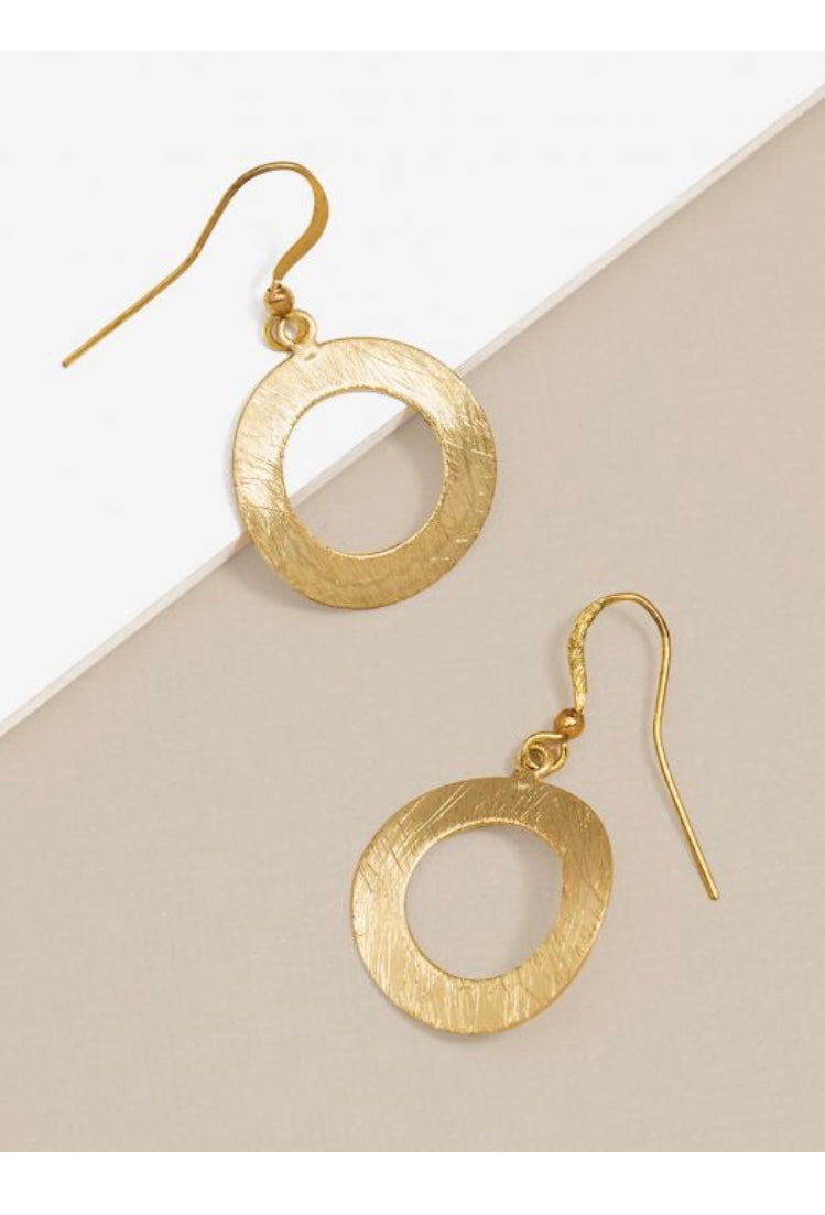 Trendy Small Circle Drop Earrings