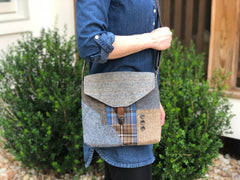 Elizabeth Plaid Patchwork Crossbody