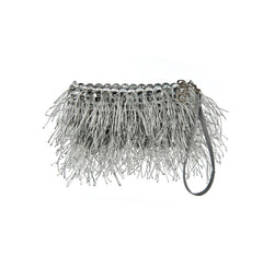 "Silky Fringe ""Shaggy"" Pop Top Clutch Purse"