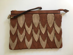 Layered leaf Clutch/Crossbody/Wristlet