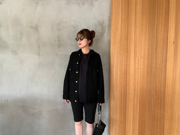 Limited Black Denim Big Jacket 1