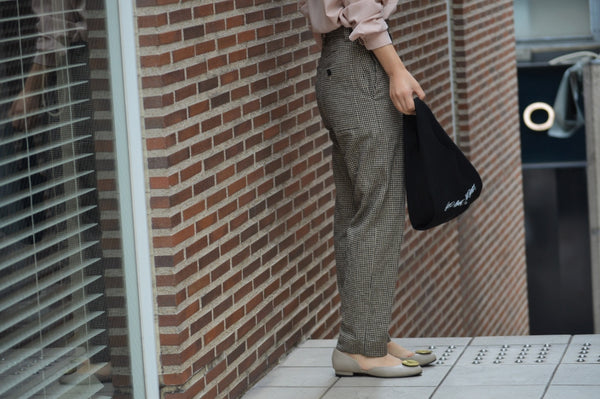 "Hot Item ""Cotton Linen Check Baloon Pants"""