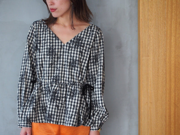 Gingham Check Flower