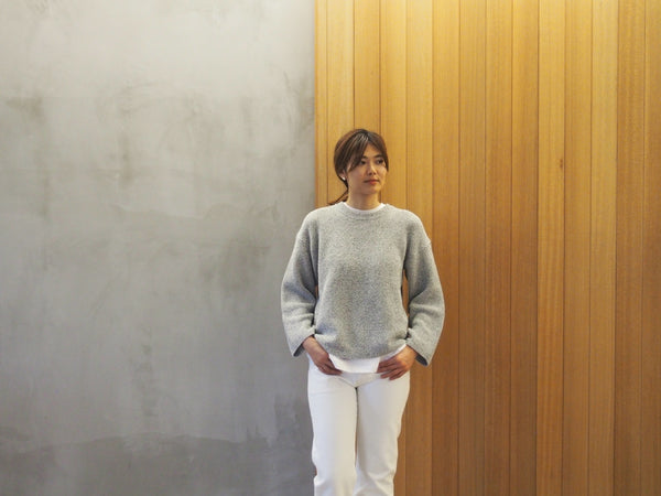 Dry Cotton Knit Drop Shoulder Sweater