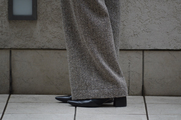"Pick Up ""Jazz Nep Tweed Wide Pants"""
