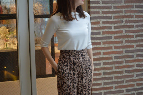 "Pick Up Item ""Leopard Jacquard Pants"""