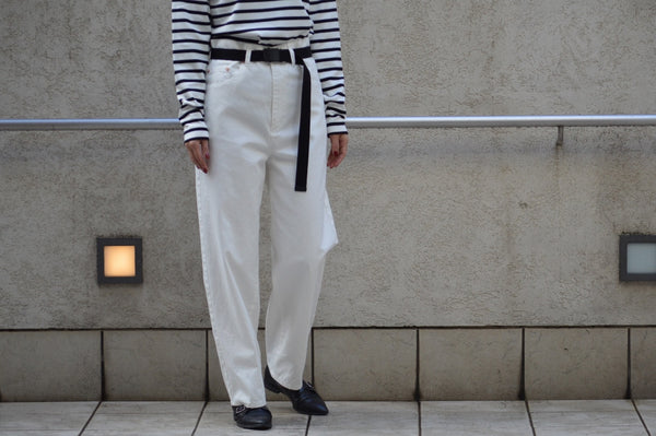 High Twill Pants With Belt