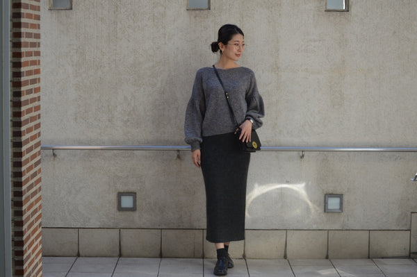 "Pick Up ""Mohair Knitting Skirt"""