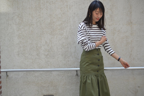 "Pick Up Item ""Combed Yarn Chino Gathered Skirt"""