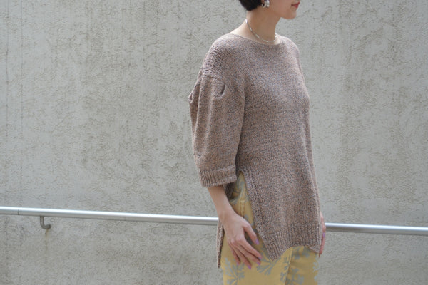 "Pick Up Item ""Wave Tape Knit Tunic Sweater"""