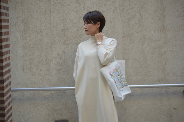 "Pick Up Item ""Soft Sweat Mock Neck Dress"""