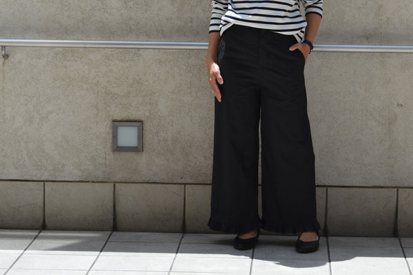 Air Stretch Typewriter Frill Pants