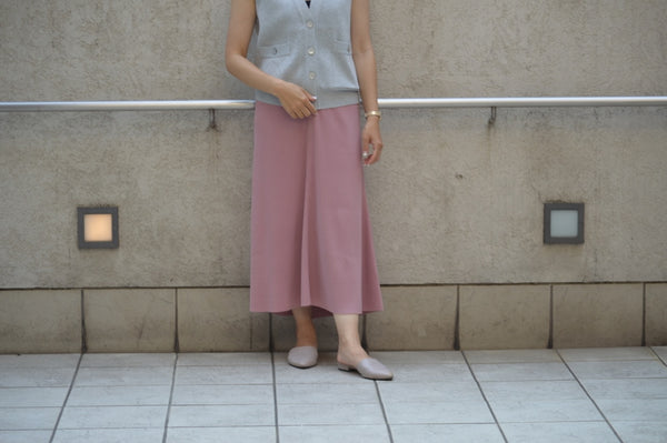 """Summer Rib Flare Skirt in Pink"""