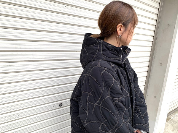 Quilting Embroidery Hoodie Coat