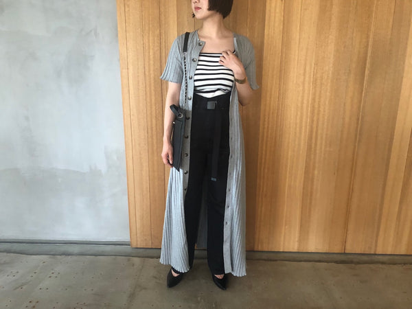 "Wide Rib Dress ""GRAY"""