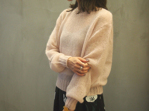 Loose Mohair Knit Top