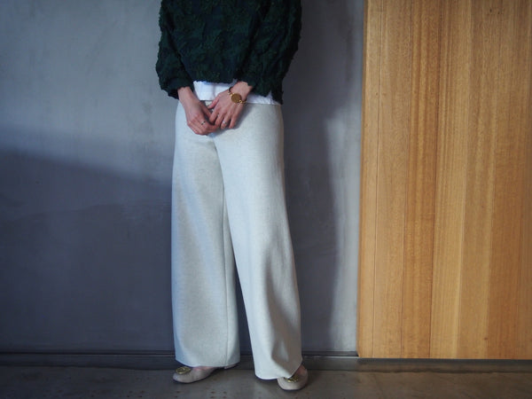 Super140 Milled Melton Wide Pants