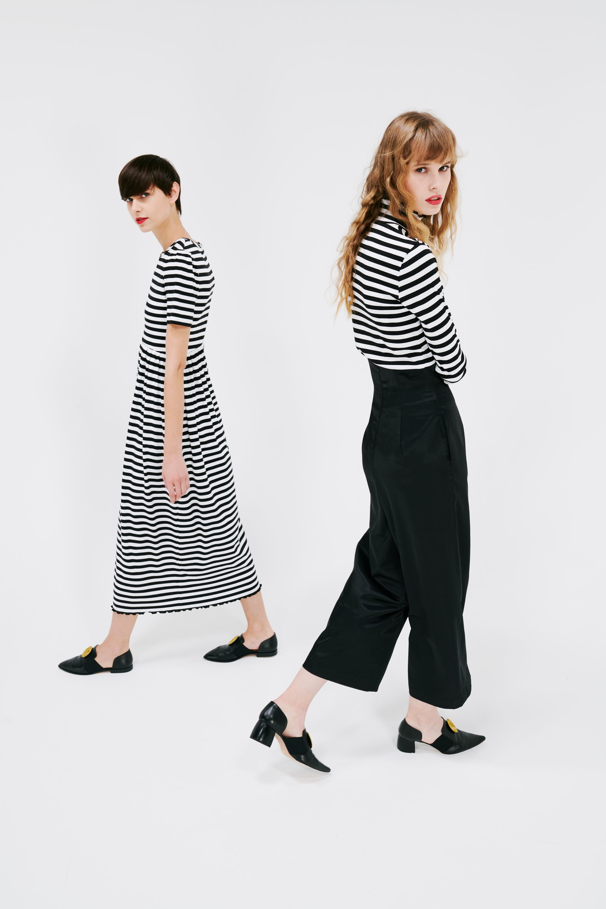 I'm Tough, Ambitious And I Know Exactly What I Want Keep Walking - Striped Mono Tone Tops & Black Pants, Striped Mono Tone Onepiece.