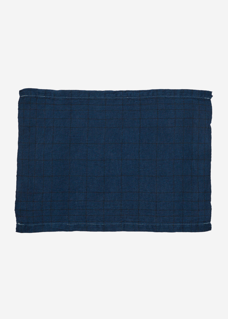 Indigo Check Place Mat