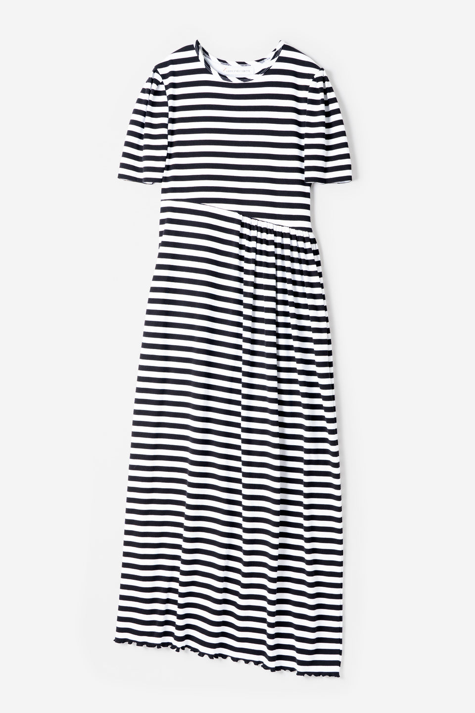 Technorama Stripe Dress in White Mix