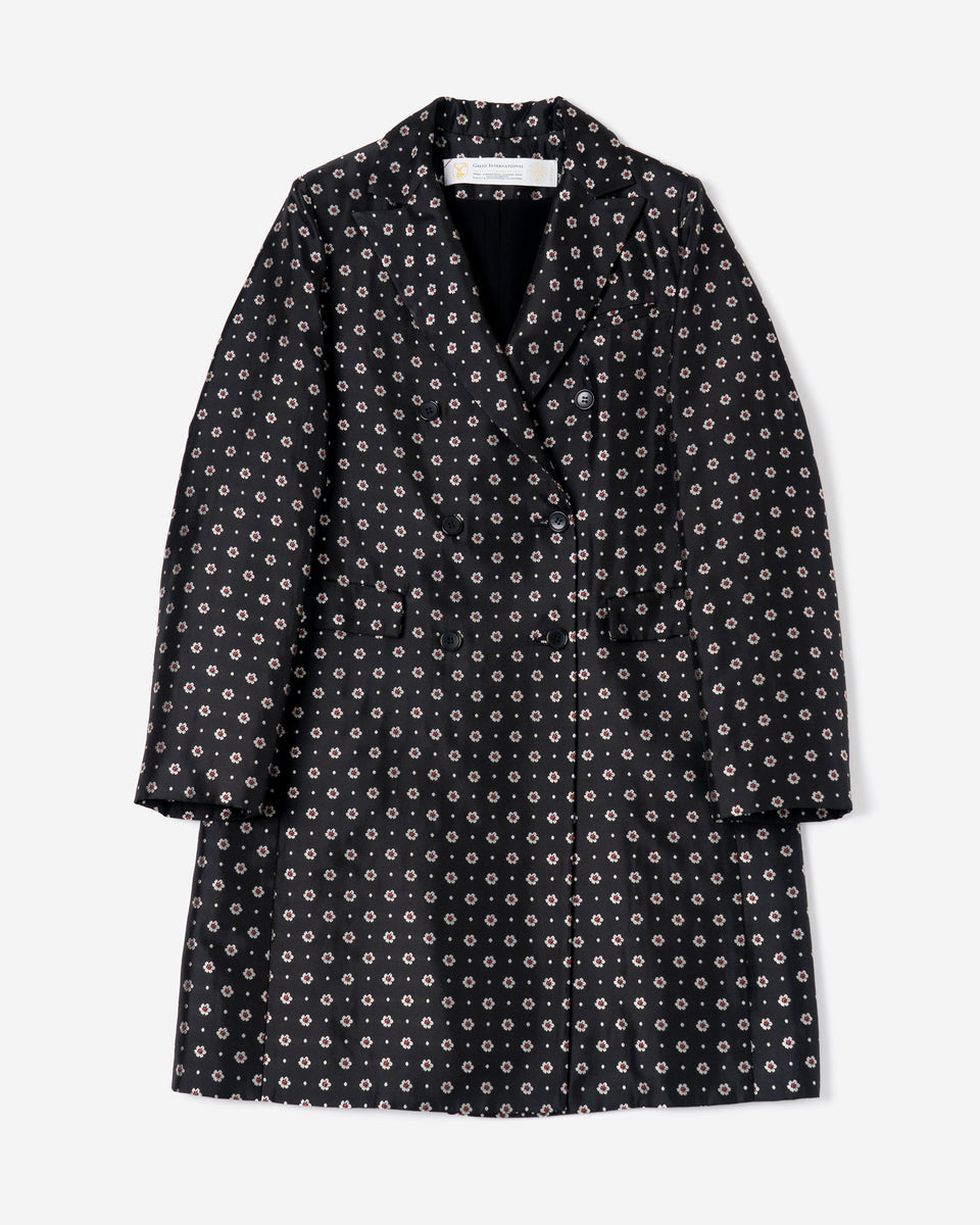 Dutel Floret Coat in Black