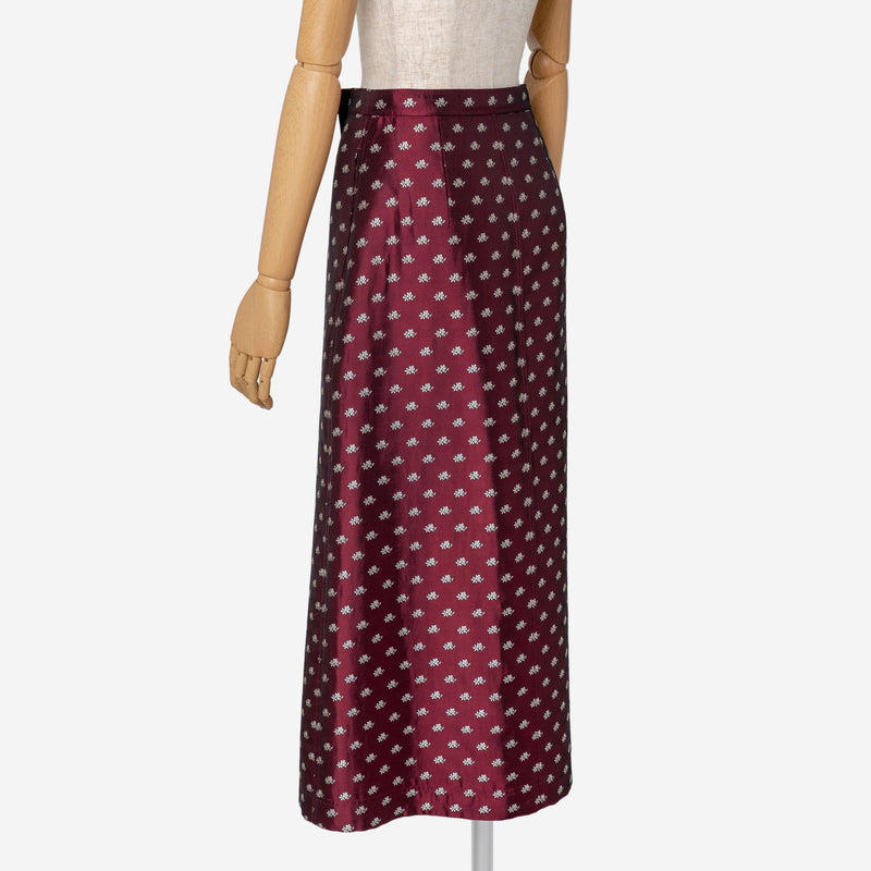 Dutel Floret Skirt in Bordeaux