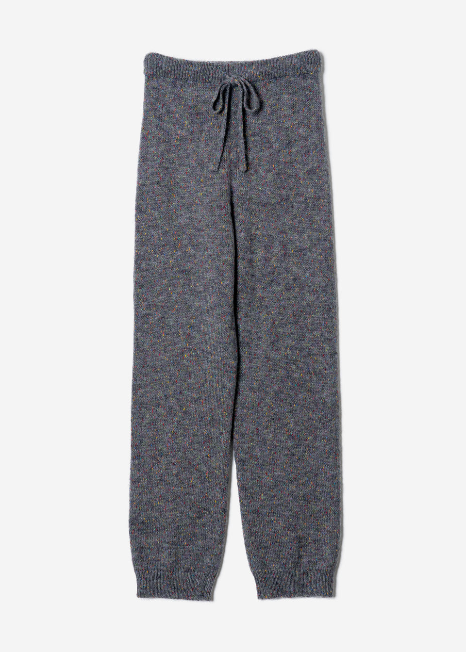 Splash Nep Knit Pants in Gray Mix