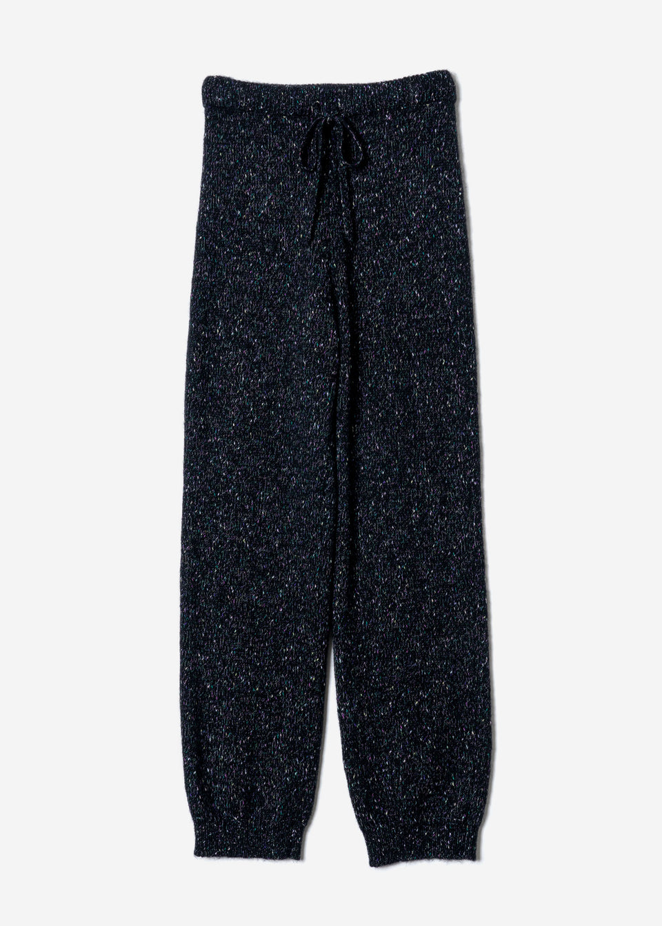 Splash Nep Knit Pants in Black Mix