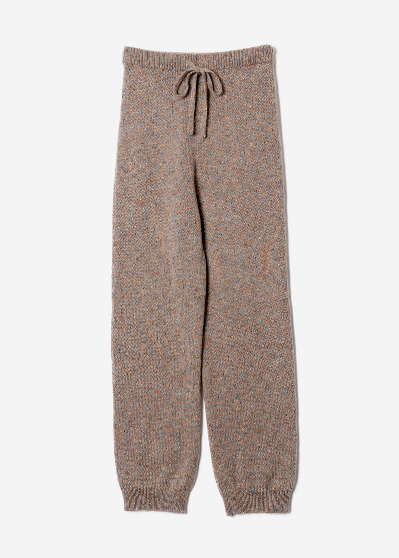 Splash Nep Knit Pants in Beige Mix