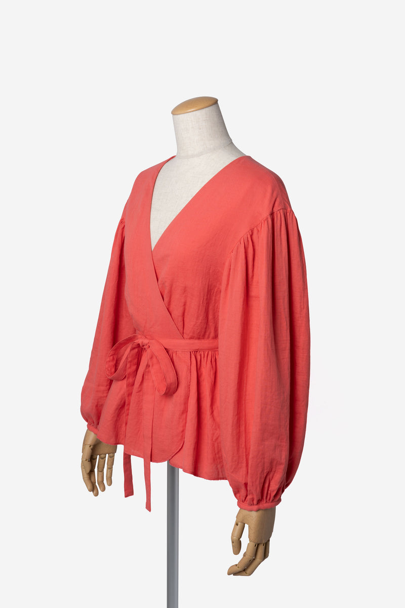 Soft Cotton Blouse in Orange