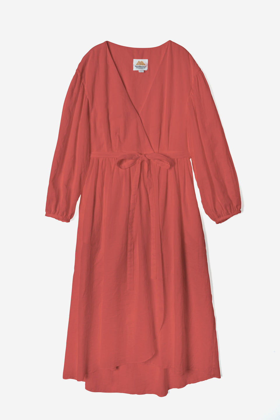 Soft Cotton Dress in Orange