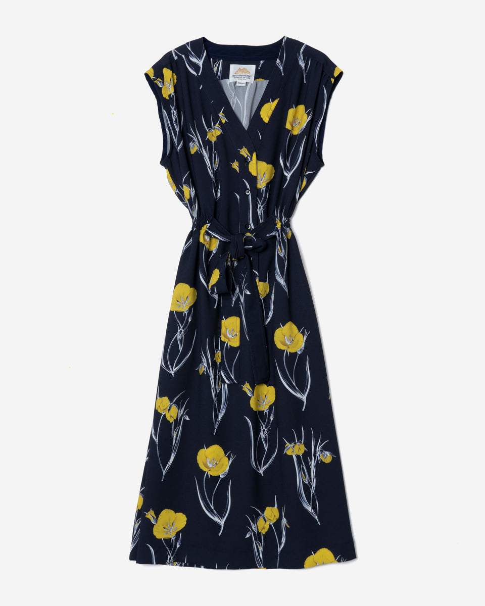 Lily Sleeveless Dress in Navy