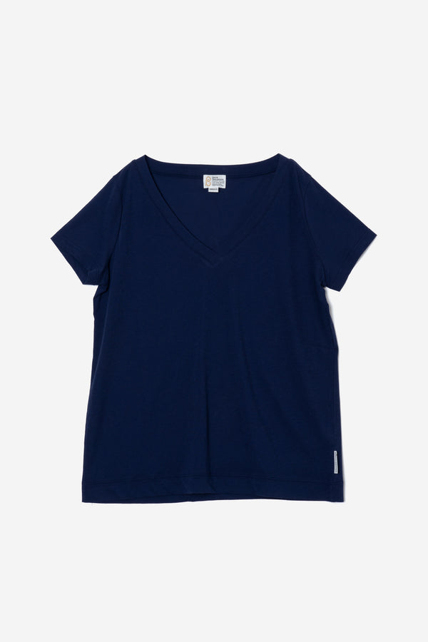Technorama Standard V-neck Tee in Navy