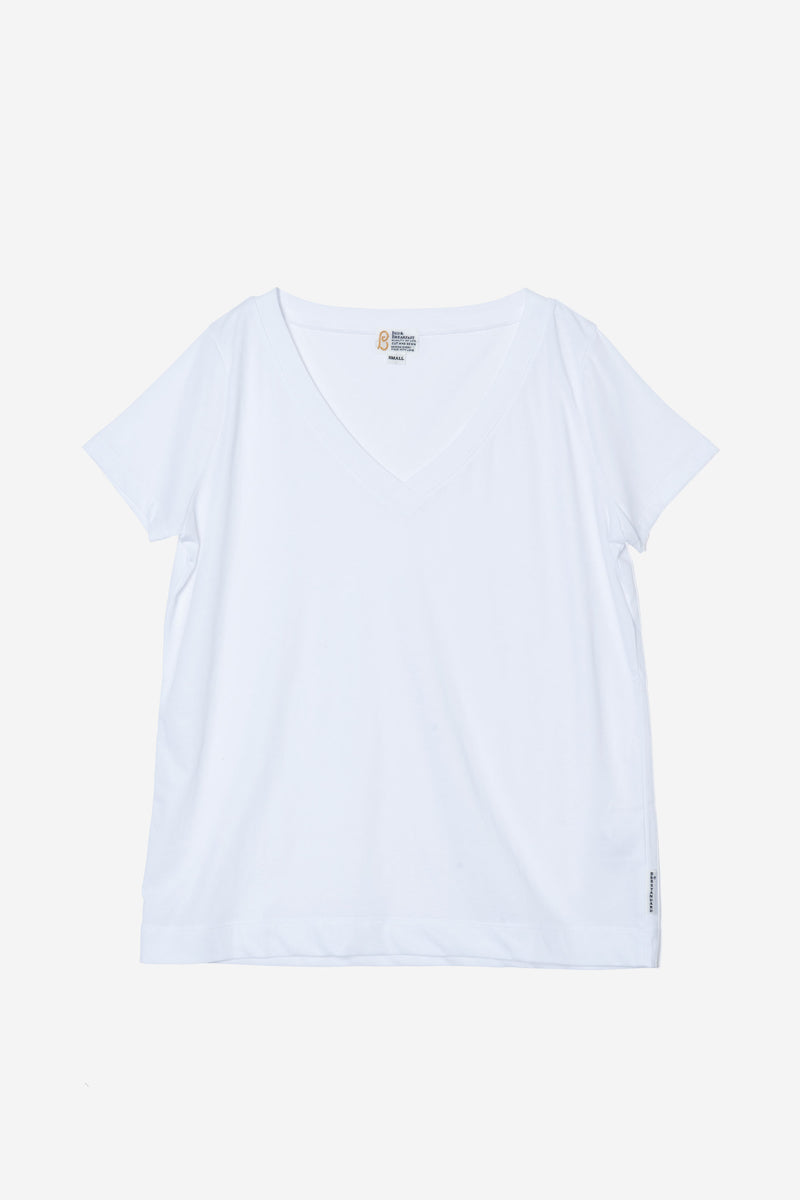 Technorama Standard V-neck Tee in White