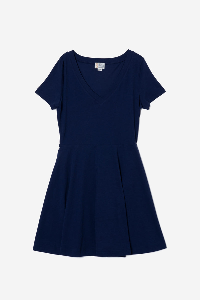 Technorama Standard Flared Skirt Dress in Navy