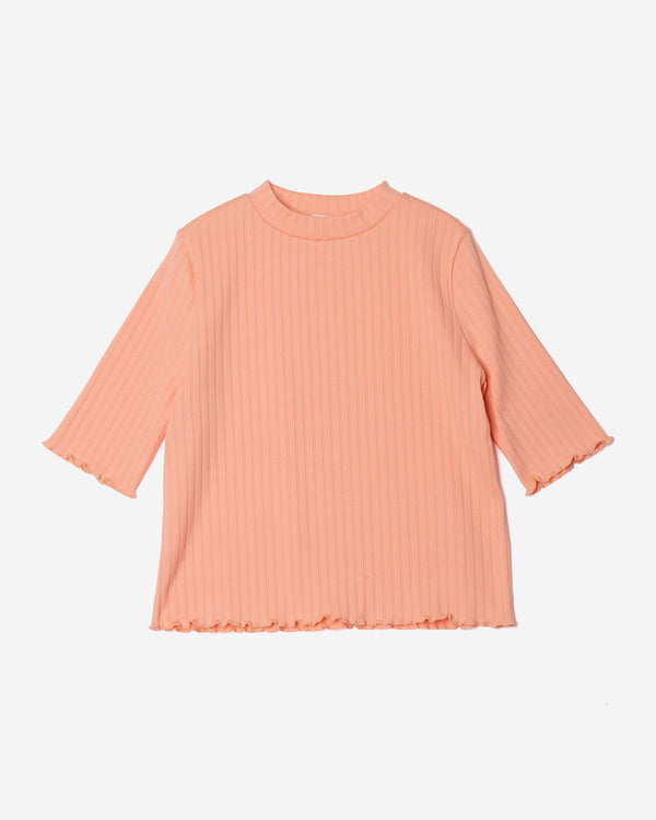 Random Rib Short Sleeve in Orange