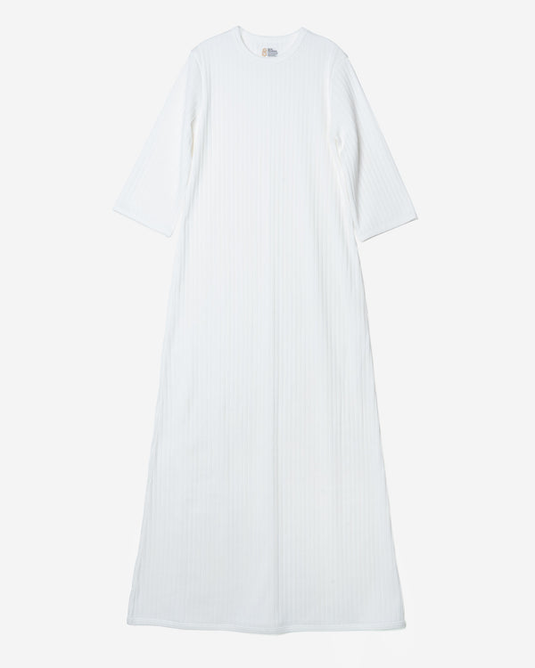 Random Rib Dress in White