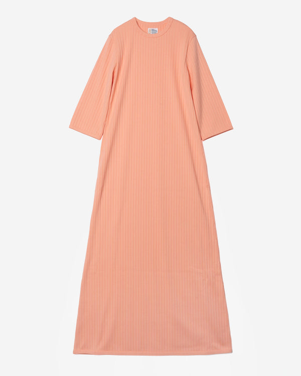 Random Rib Dress in Orange